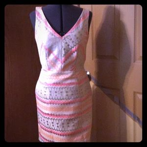 Aztec print back out dress by minuet Size 6
